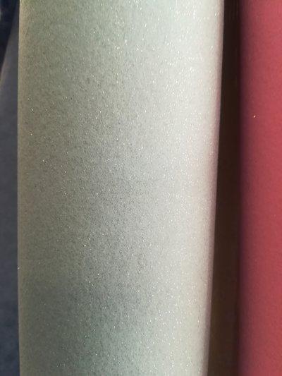 pannolenci glitterato celeste chiaro - argento 10cm x 180 cm