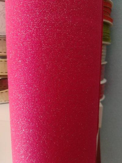 pannolenci glitterato fucsia - argento 10cm x 180 cm