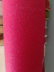 pannolenci glitterato fucsia - argento 50 x 90 cm