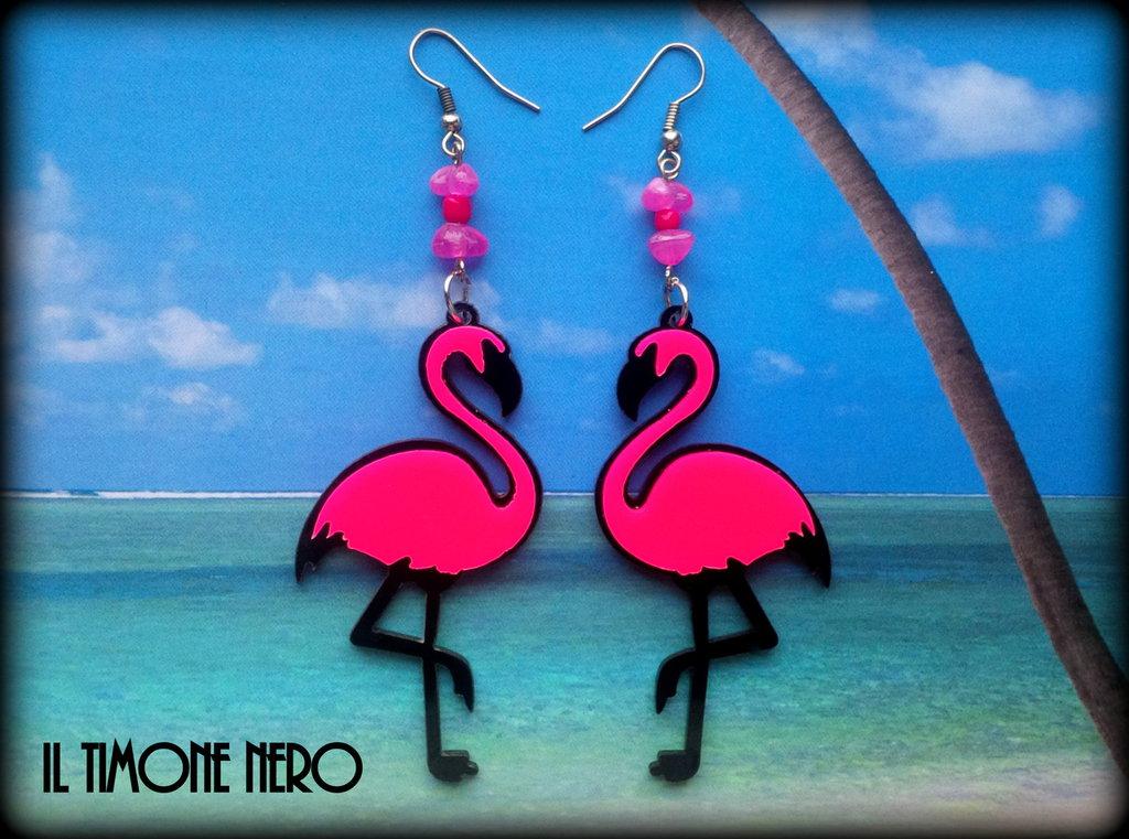 "Orecchini ""Pink Flamingo"""