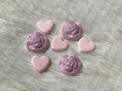 Lotto di Mini Cabochon Rosa