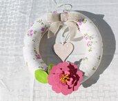 ghirlanda tubolare sfumature rosa