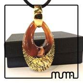 Collana ciondolo in vetro di Murano, certificata, spedizione gratis!