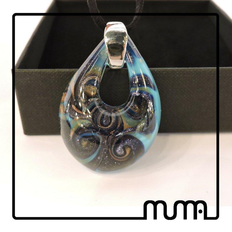 Bellissimo ciondolo in vetro di Murano, fatto a mano, certificato