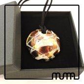 Collana con ciondolo in vetro di Murano, bellissima idea regalo