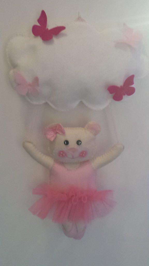 Fiocco nascita...un'orsetta ballerina