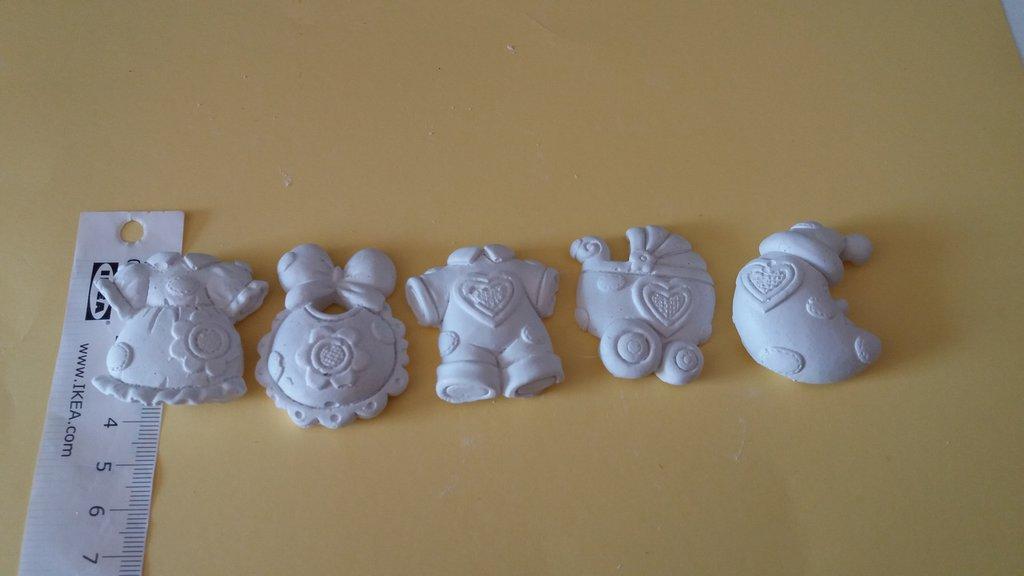 Bomboniere nascita baby gesso ceramico fai da te