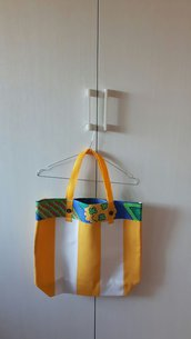 Borsa Shopping Bag in tessuto fantasia