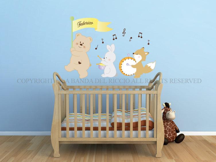 I Musicisti adesivi murali per bambini