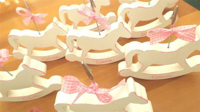 INSERZIONE RISERVATA PER LEONARDO - cavallini a dondolo in legno personalizzati con portafoto - no fimo