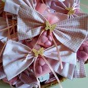 bomboniera fiocchi confettata, portaconfetti, babyshower, annuncio nascita.
