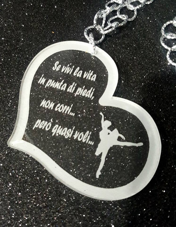 collana ballerina ' se vivi in punta di piedi ...'