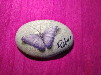 Farfalla Lilla con nome