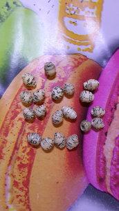8 perline in carta 'PAPER BEADS' colore beige per gioielli riciclo creativo