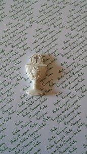 Bomboniera Calice prima comunione gesso ceramico per fai da te