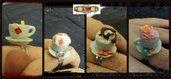 Anello tazzina vari modelli regolabili miniature