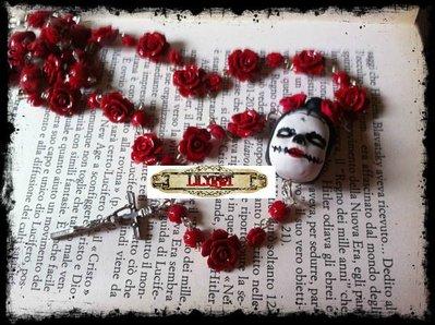 rosario giorno dei morti halloween messicana rose ooak