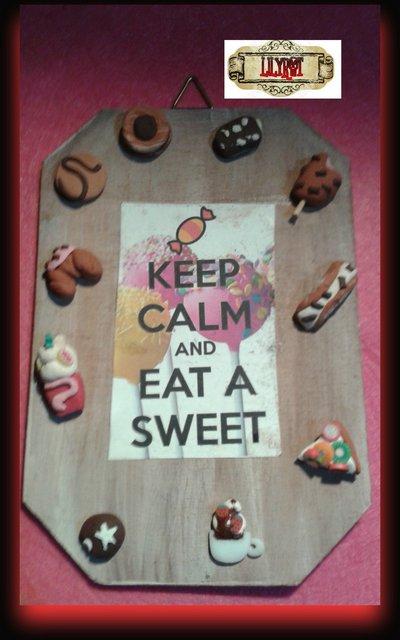 targa targhetta appendibile sweet dolcezze dolci