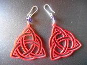orecchini plexiglass rosso