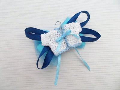 Bomboniera nascita - Battesimo - primo compleanno mini giacca uncinetto per bimbo.