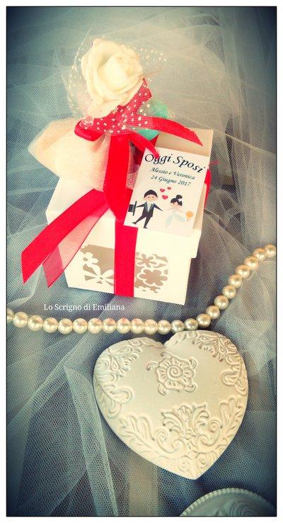 Bomboniera Matrimonio/Promessa Matrimonio/Anniversario gessetto profumato