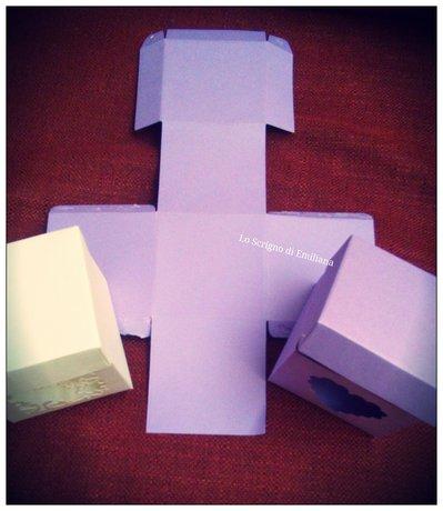 Scatoline portaconfetti cartoncino
