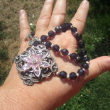 Stile vintage in cristallo viola, una delle mie preferite!