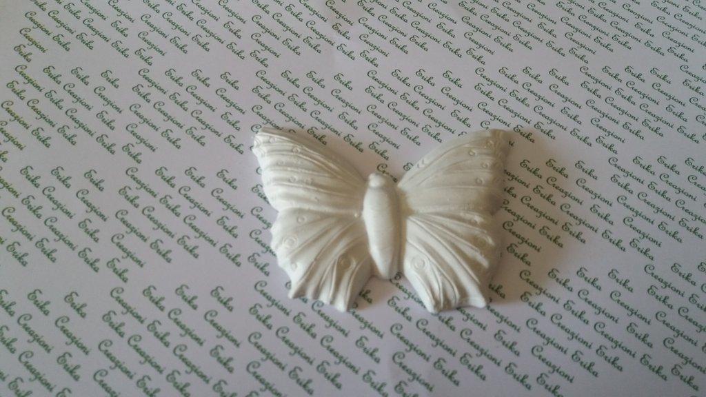 Bomboniera farfalla in gesso ceramico per fai da te