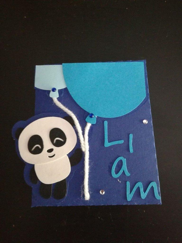 Scatolina scatola bomboniera porta confetti segnaposto battesimo compleanno nascita nome panda