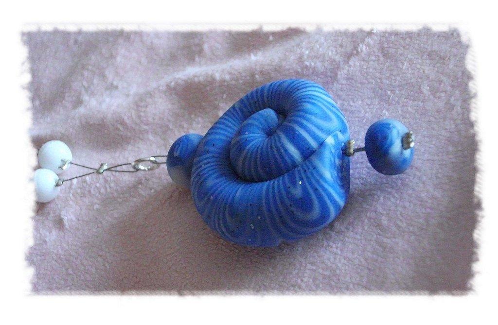 COLLANA conchiglia Azzurro/Bianco