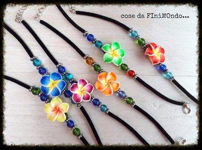 bracciali con fiore hawaii