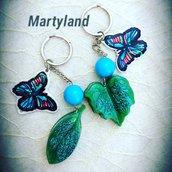 Portachiavi farfalle blu