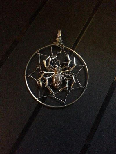 Ciondolo ragno acciaio inox