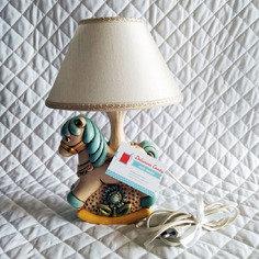 Lampada/Abat Jour con paralume - cavallo a dondolo
