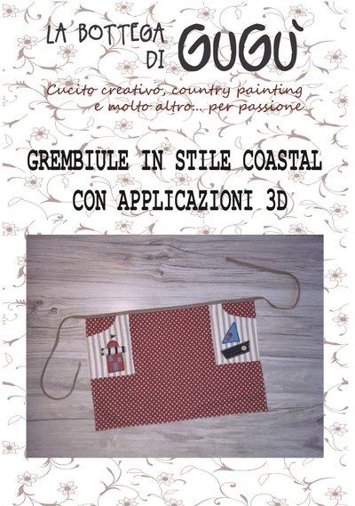 DIY - Cartamodello con spiegazioni per realizzare un grembiule in stile coastal (formato PDF)