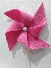 Girandola in feltro rosa