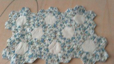 Centrotavola di esagoni patchwork