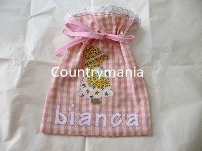set di tovagliette e sacchetto per la scuola materna