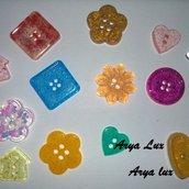 Mix bottoni in resina