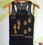 Canotta stampata cane