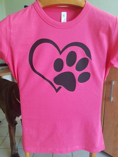 T-shirt stampata cane