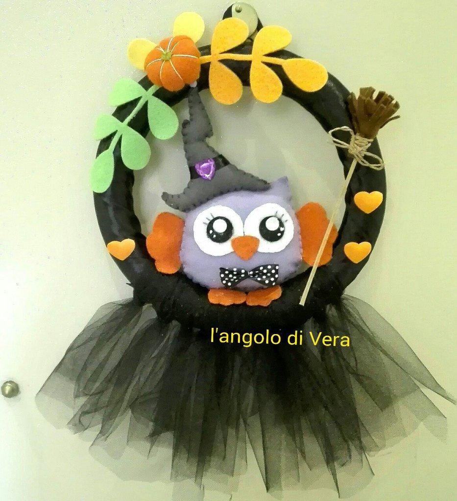 Fuoriporta Halloween  con gufo