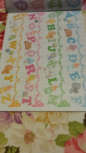 Schema alfabeto punto croce, bambini