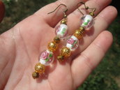 orecchini perle Lampwork