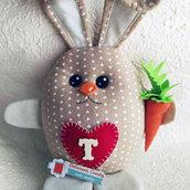 Coniglietto fermaporta/fermalibri in pannolenci