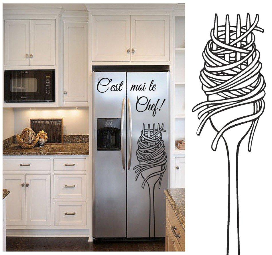"""Adesivo gigante per frigorifero """"C'est moi le Chef!"""""""