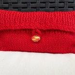 Pochette rossa portatrucchi in lana