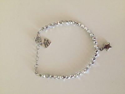 Bracciale con perle mezzi cristalli
