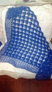 scialle cotone blu