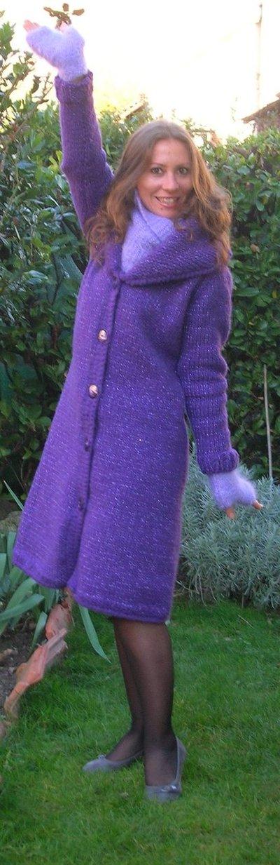 cappotto lana merino viola